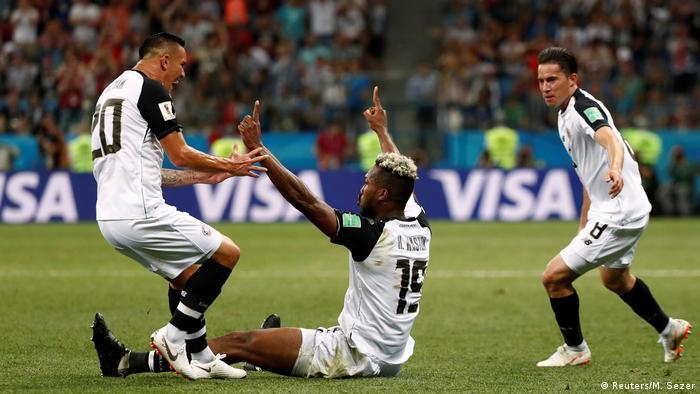FIFA Fußball-WM 2018 in Russland   Schweiz vs Costa Rica   Jubel Costa Rica (1:1) (Reuters/M. Sezer)