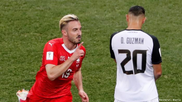 FIFA Fußball-WM 2018 in Russland | Schweiz vs Costa Rica | Jubel Schweiz (2:1)