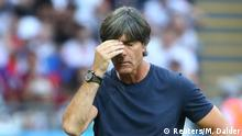 Soccer Football - World Cup - Group F - South Korea vs Germany - Kazan Arena, Kazan, Russia - June 27, 2018 Germany coach Joachim Low looks dejected during the match REUTERS/Michael Dalder