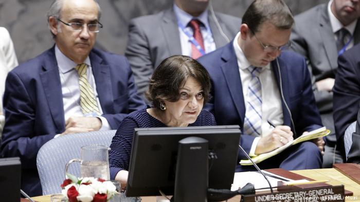USA UN Sicherheitsrat Rosemary DiCarlo (picture-alliance/Photoshot/Li Muzi)
