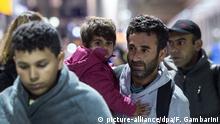 Flüchtlinge am Flughafenbahnhof Köln