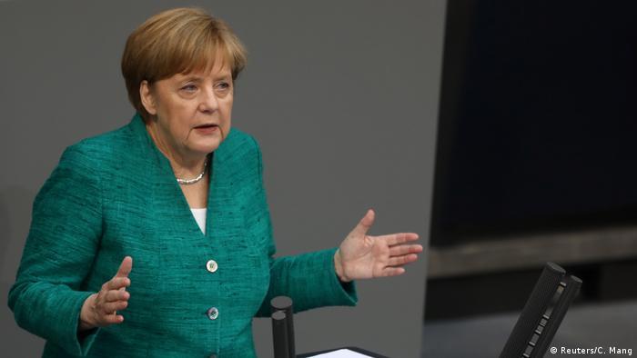 Deutschland Bundestag Regierungserklärung Merkel