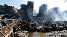 Kenia Brand auf Markt Gikomba in Nairobi
