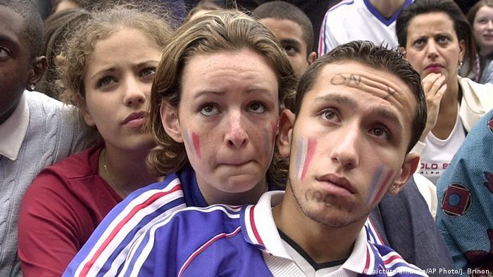 Французские болельщики в 2002 году