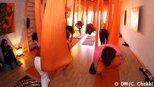 Yoga als ps. Therapie für syr. Frauen. Aufnahme Datum: 27.06.2018 Foto: Chokri Chebbi