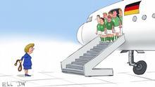 Kariaktur Elkin Vorrundenaus WM Deutsches Team
