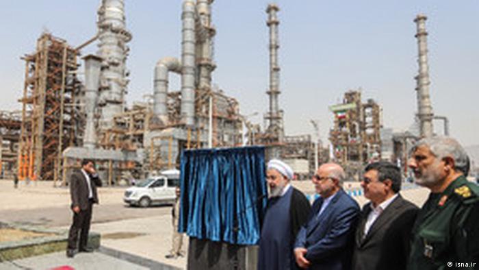 Iran - Rohani, Eröffnung der setareh khalij fars Raffinerie (isna.ir)