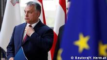 28.6.2018, Brüssel Hungarian Prime Minister Viktor Orban arrives at an European Union leaders summit in Brussels, Belgium, June 28, 2018. REUTERS/Yves Herman