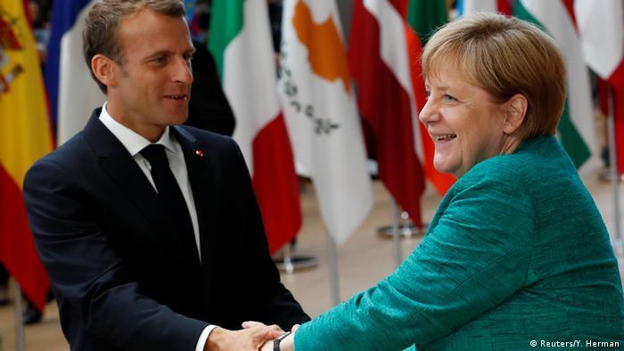 Belgien - EU-Gipfel in Brüssel - Merkel und Macron
