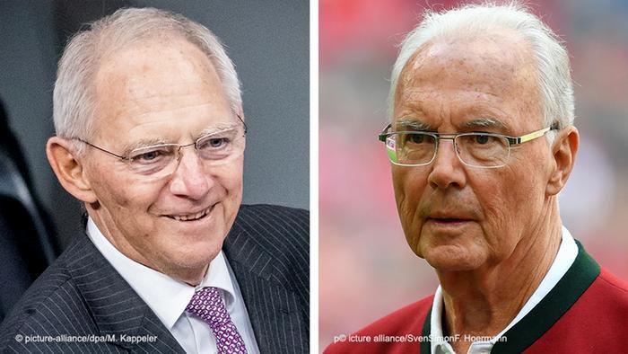 Bildkombo - Schäuble vs Beckenbauer