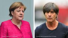 Bildkombo: Jogi Löw und Angela Merkel