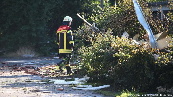 Explosion in Bremen building