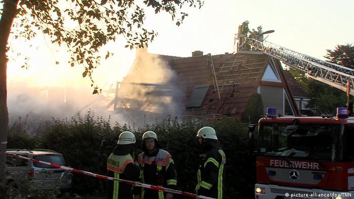 Explosion in Bremer Wohnhaus