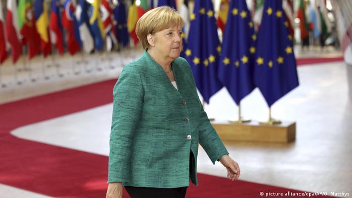 Belgien - EU-Gipfel in Brüssel- Kanzlerin Merkel (picture alliance/dpa/AP/O. Matthys)