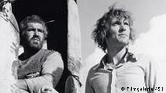 Roland Klick mit Mario Adorf (im LKW sitzend) bei den Dreharbeiten zu Deadlock (Foto: Filmgalerie 451)