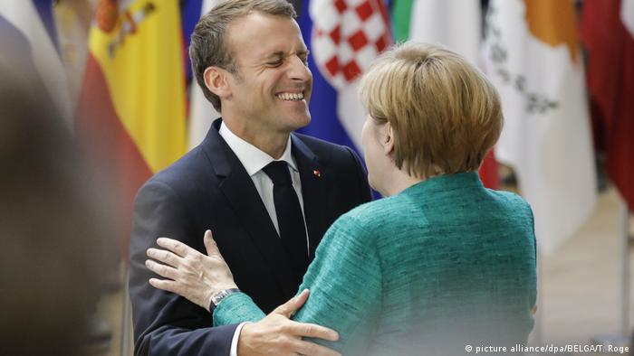 Emmanuel Macron and Angela Merkel (picture alliance/dpa/BELGA/T. Roge)