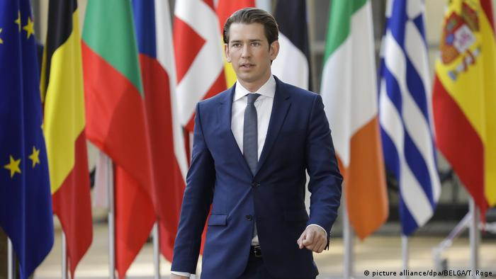 Austrian Chancellor Sebastian Kurz (picture alliance/dpa/BELGA/T. Roge)