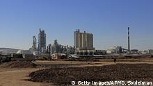 February 19, 2018 A general view shows the Lafarge Cement Syria (LCS) cement plant in Jalabiya, some 30 kms from Ain Issa, in northern Syria, in February 19, 2018. The choice to cling on in Syria after other international firms fled the fighting has plunged Lafarge, which merged with Swiss firm Holcim in 2015, into a spiral of scandal and recriminations that has dragged in the French state. / AFP PHOTO / Delil souleiman (Photo credit should read DELIL SOULEIMAN/AFP/Getty Images)