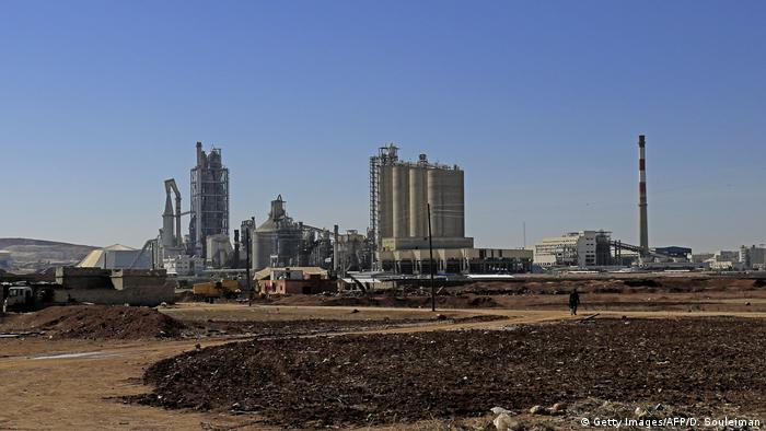 A shot of Lafarge Cement Syria
