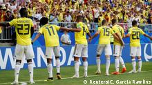 Soccer Football - World Cup - Group H - Senegal vs Colombia - Samara Arena, Samara, Russia - June 28, 2018 Colombia players celebrate after the match REUTERS/Carlos Garcia Rawlins