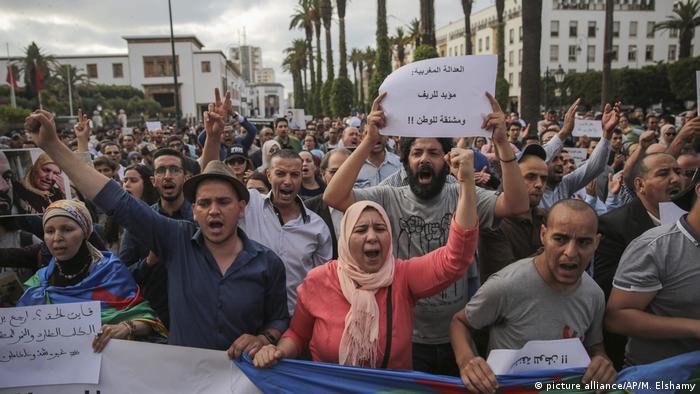Marokko - Proteste gegen die Verurteilung von Rif-Aktivisten