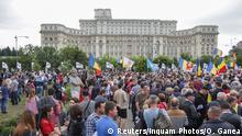 Rumänien - Proteste vor dem Parlament gegen die Regierung