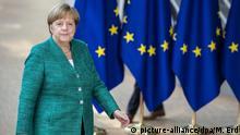 28.6.2018, Brüssel 28.06.2018, Belgien, Brüssel: Bundeskanzlerin Angela Merkel (CDU) kommt zum EU-Gipfel im Europa-Gebäude. Beim Treffen der EU Staats- und Regierungschefs steht unter anderem die Flüchtlingspolitik auf dem Programm. Foto: Marko Erd/TASR/dpa +++ dpa-Bildfunk +++ |