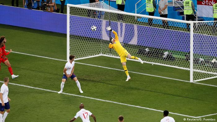 FIFA Fußball-WM 2018 in Russland | Belgien vs England | Tor Belgien (1:0) (Reuters/G. Fuentes)