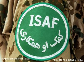 ISAF patch on German soldier in Afghanistan