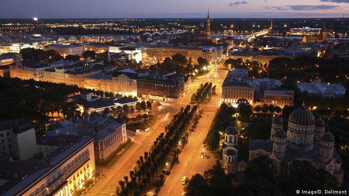 Riga at night
