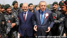 Türkei Suleyman Soylu und Erdogan