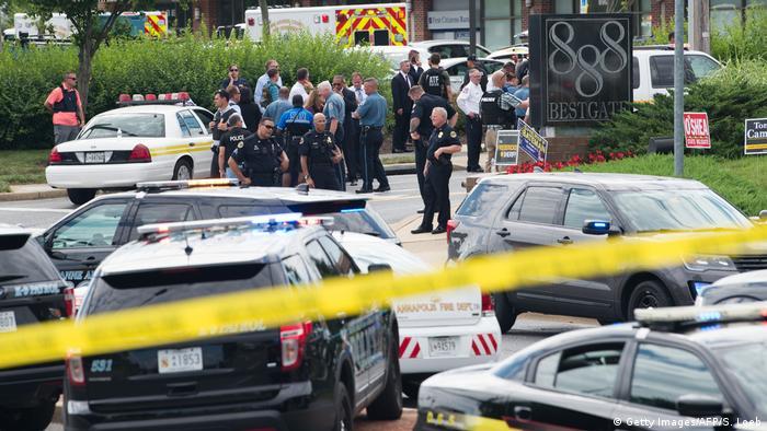 USA Maryland - Schießerei in einer Zeitungsredaktion in Annapolis - Mehrere Tote (Getty Images/AFP/S. Loeb)
