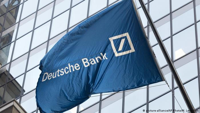 Deutsche bank flag with logo