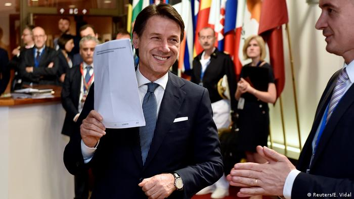 Italian Prime Minister Giuseppe Conte leaves a European Union leaders summit in Brussels, Belgium, June 29, 2018 (Reuters/E. Vidal)
