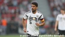 firo Fußball: Fussball: 08.06.2018 Nationalmannschaft Testspiel: Deutschland - Saudi Arabien 2:1 Halbe Figur Sami Khedira | Verwendung weltweit