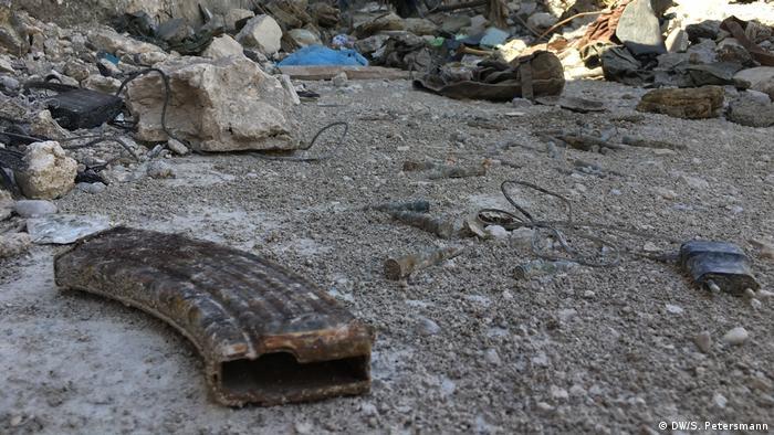 Следы уличных боев в Мосуле