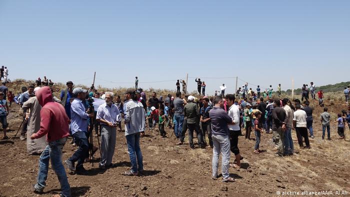 Flüchtlinge aus Daraa in den Golan-Höhen