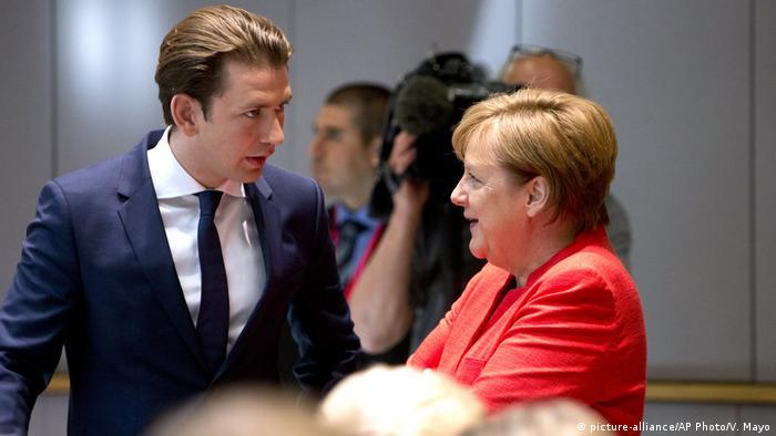 Kurz and Merkel