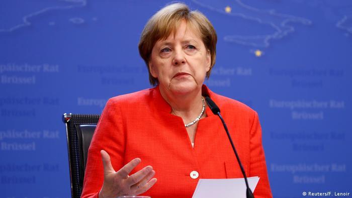 Angela Merkel em Bruxelas