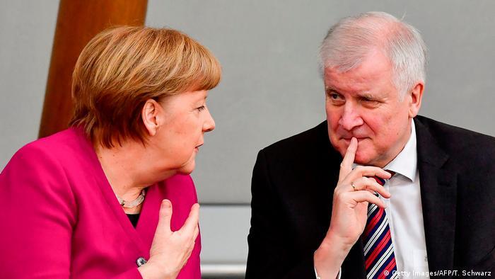 German Chancellor Angela Merkel and Interior Minister Horst Seehofer