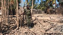 Mosambik, Cabo Delgado: Soldat in Naunde