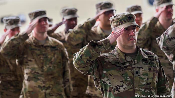 US troops in Illesheim, Germany