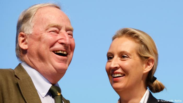 AfD parliamentary leaders Alexander Gauland and Alice Weidel