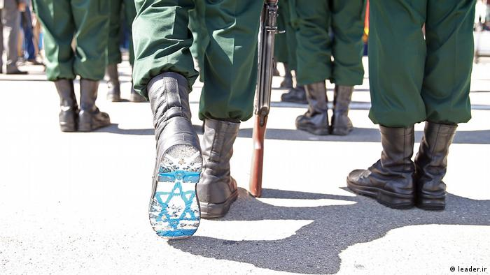 Israeli flag painted on the sole of an Iranian soldier's boot