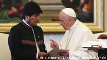 Vatikan Treffen Papst Franziskus mit Evo Morales