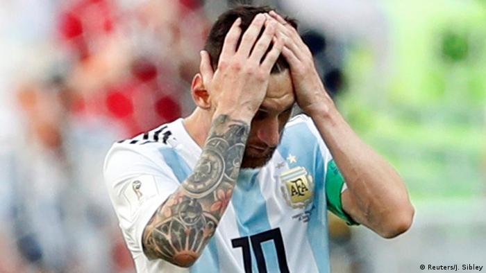 FIFA Fußball-WM 2018 | Achtelfinale | Frankreich vs. Argentinien | Messi Enttäuschung