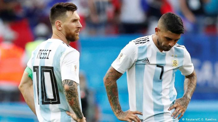 FIFA Fußball-WM 2018 | Achtelfinale | Frankreich vs. Argentinien | Niederlage (Reuters/C.G. Rawlins)