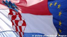Flaggen Kroatien EU