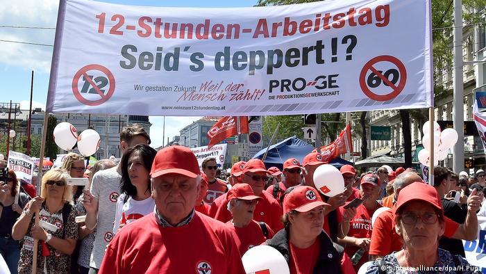 Протести проти нового закону про працю у Відні, 30 червня