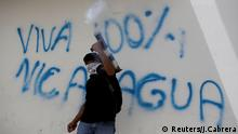 A demonstrator fires a homemade mortar during a protest against Nicaraguan President Daniel Ortega's government in Masaya, Nicaragua June 29, 2018. REUTERS/Jorge Cabrera TPX IMAGES OF THE DAY